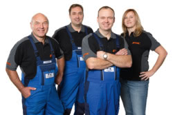 Teamaufnahme Baumaschinenverleih Großjena GmbH & Co. KG