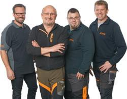Teamaufnahme Gartentechnik Hanselle STIHL iMow Experten