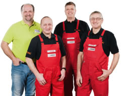 Teamaufnahme Uwe Hübner Motorgeräte e. K.